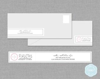 Monogram Wraparound Mailing Address Label [Printable   DIY   Digital File]
