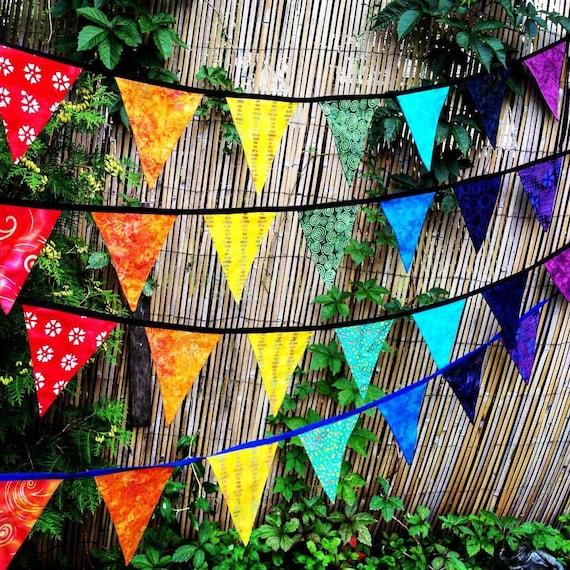 Chakra Gebet Fahnen Batik Wimpelkette Girlande Banner