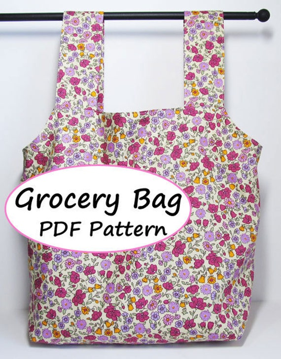 Pdf Sewing Pattern Grocery Bag Downloadable Etsy