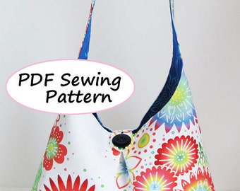 PDF Sewing Pattern -Shoulder Bag-(Downloadable)
