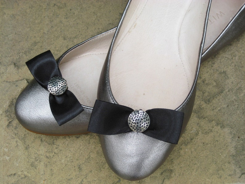dd0ae87329 Little Black Bow Shoe Clips FREE SHIPPING