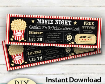 movie ticket etsy