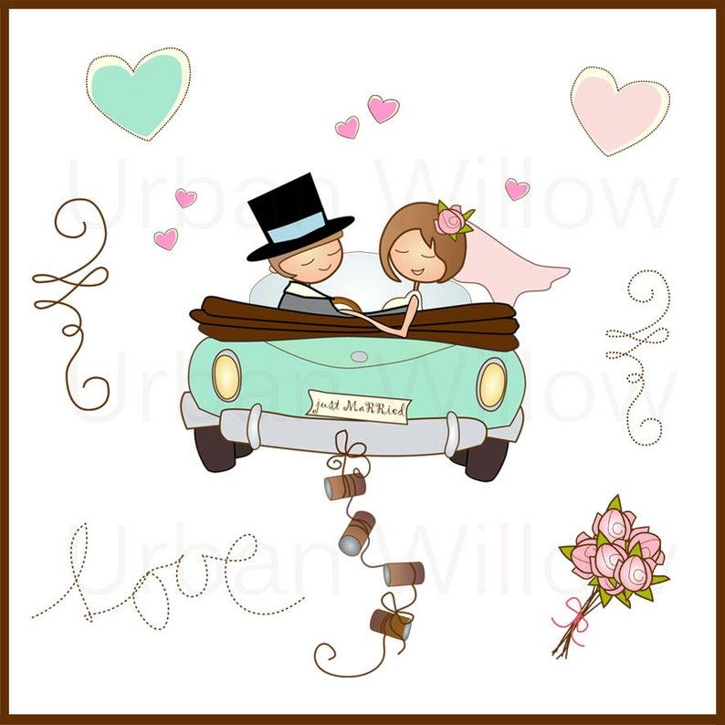 just married auto zeichnung zum ausdrucken