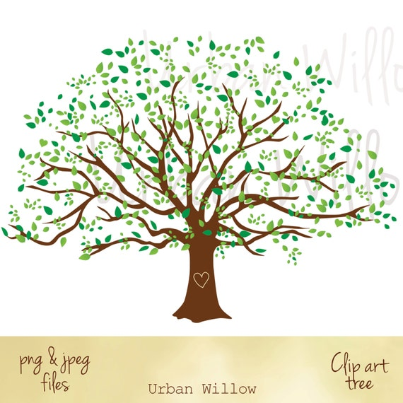 large family tree graphic family tree image clipart natural etsy