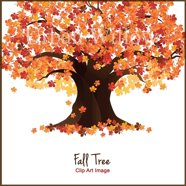 Tree Clip Art Fall Trees Autumn Tree Clipart Maple Tree | Etsy