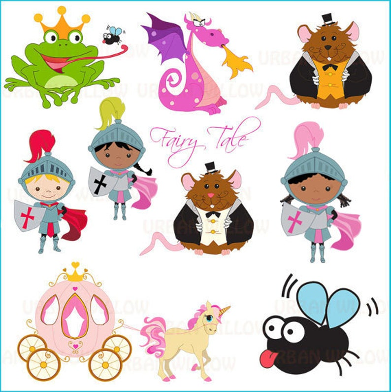 25 piece clip art set in high resolution Png clip art PRINCESS Fairy Tale For personal and commercial use.