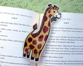 Giraffe Bookmark -  Animal Bookmark / Book Lover Gift / Cute Bookmark / Laminated Bookmark / Illustrated Kids Bookmark / Stocking Stuffer