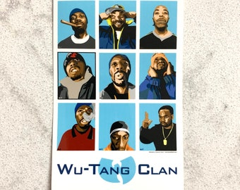 9-Panel Animated Wu-Tang Art, weather resistant sticker