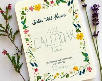 British Wildflowers calendar 2022