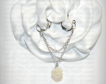 Clit Clip , Non piercing labia clip, Non Piercing Clitoris Labia Intimate Jewelry, Dangle Sexy Wife, Chain and rose (m5)
