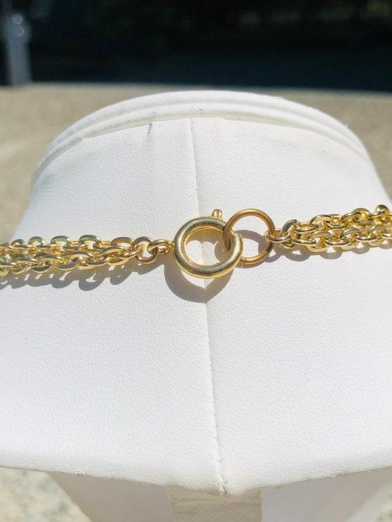 Vintage Gold Tassel Multi Chain  Necklace - image 5