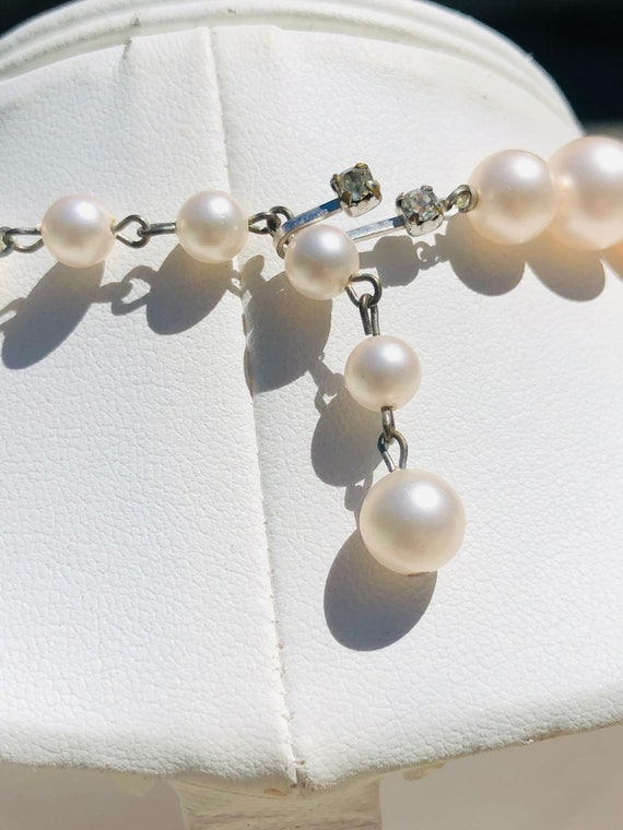 Marvella Pink Faceted Glass Bead Faux Pearl Vinta… - image 3
