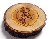 Wolf Wooden Incense Holder, Handmade Incense Stick Burner, Home Meditation Practice