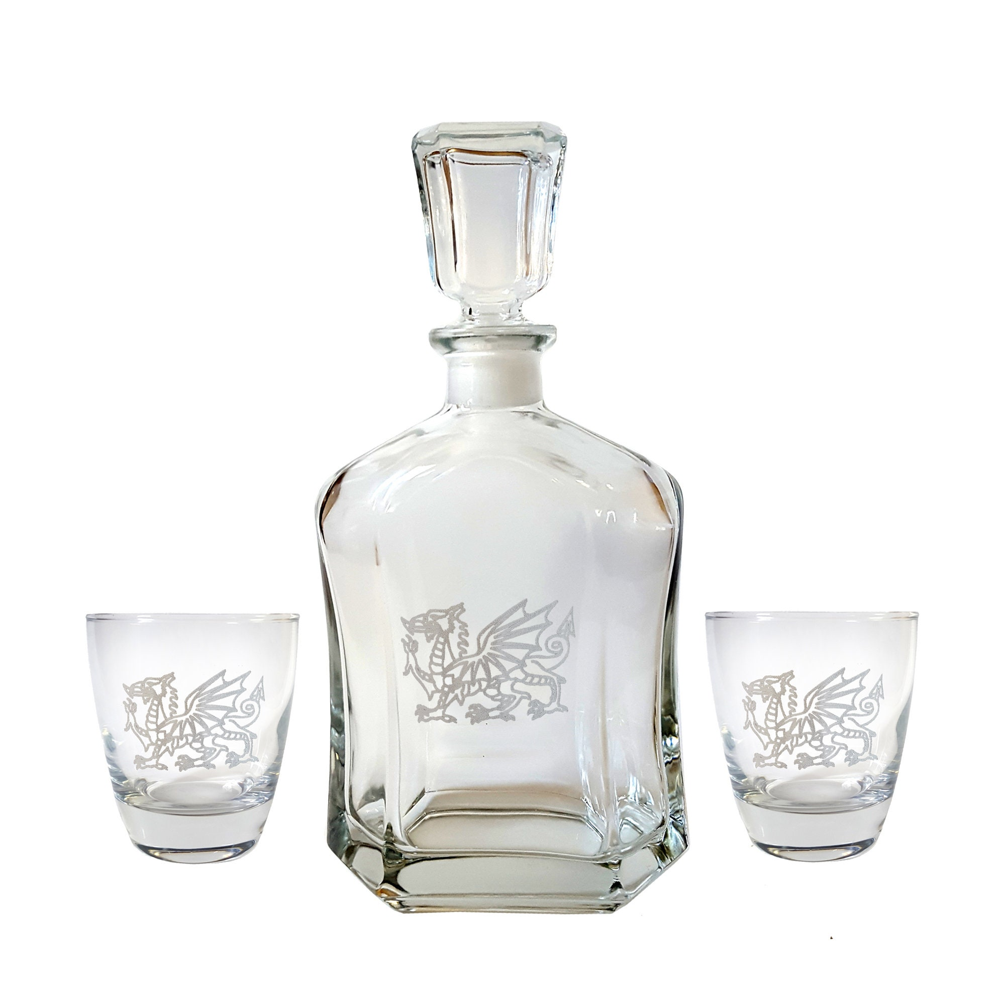 Crystal Steampunk Glasses Dragon Decanter Gift Box Set Steampunk Dragon Decanter Box Set