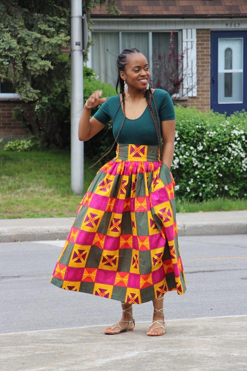 b0b34500b2 Wax Skirt Print Vlisco Skirt Maxi Skirt African Print | Etsy