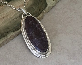Natural Purple Jade Pendant Necklace