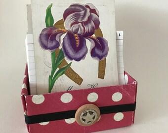 Perpetual Calendar Journal Box - Violet Vintage Card