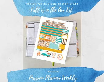 Fall is in the Air Custom Weekly Sticker Kit for Passion Planner Weekly Medium
