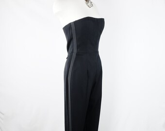 2bd55dc23d1f Vintage GIVENCHY COUTURE 1990s by Alexander McQueen Strapless Jumpsuit sIZE  38 Deadstock