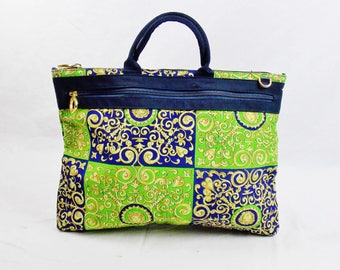 b0cc485531dd GIANNI VERSACE SHOPPING Tote Scrolls Scarf Print Design Large Deadstock  Always Authentic !