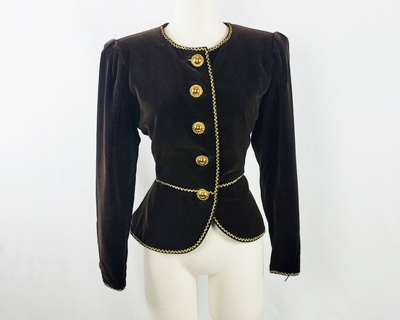 Yves Saint Laurent Russian Collection Velvet Jacke
