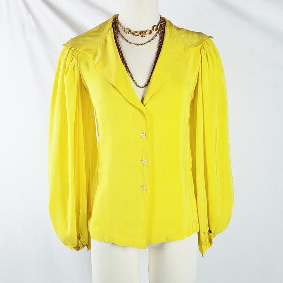 Vintage THEA PORTER Oversized Sleeves  Canary Yell