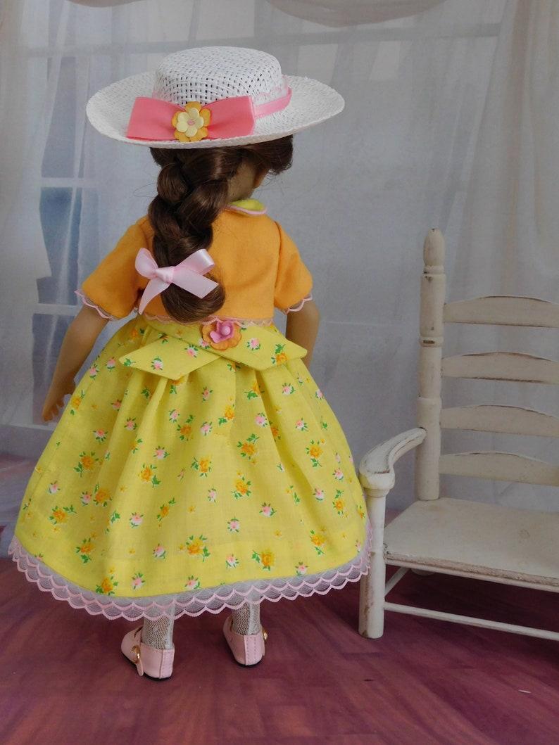 4-pc Smocked Doll Dress Ensemble Ruby Red Maru Mini Pal Little Darling 13-14 Dolls-Juried Stitchery Artist