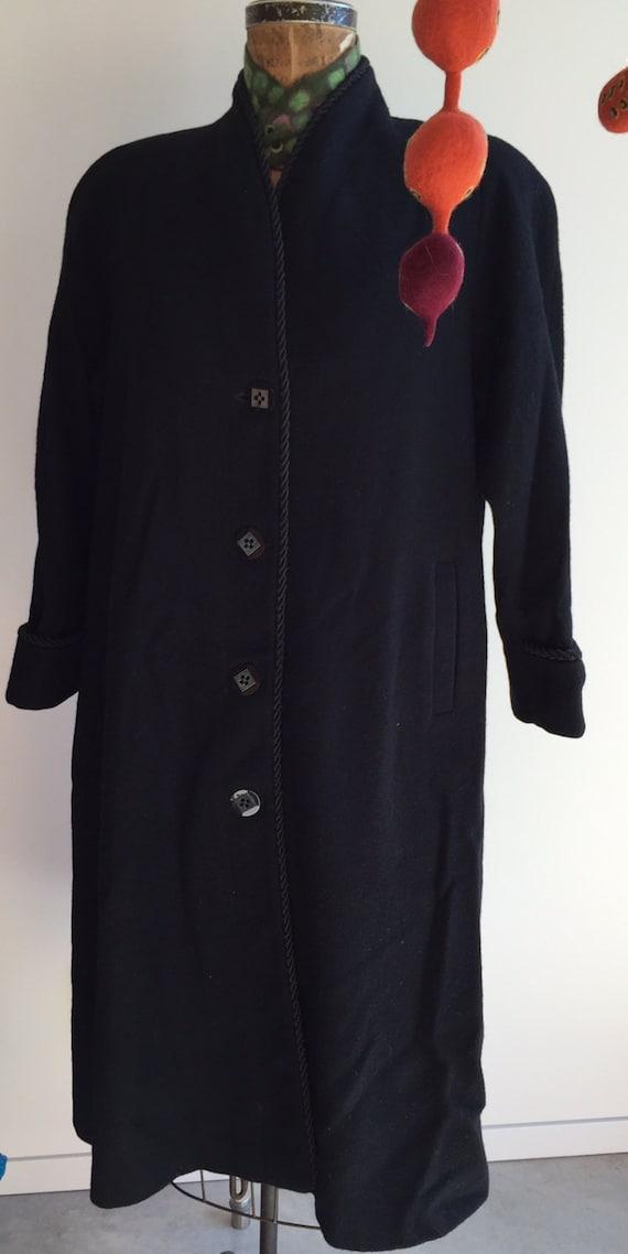 vintage black swing coat