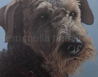 Custom Dog Portrait, 9x12, Pet Portrait, Custom Pet Portrait, Painted Pet Portraits, Dog Portrait Custom, Fathers Day Gift