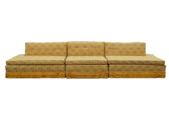 Merveilleux 3 Pc Retro Kitsch Mid Century Sectional Sofa Couch Funky Cool