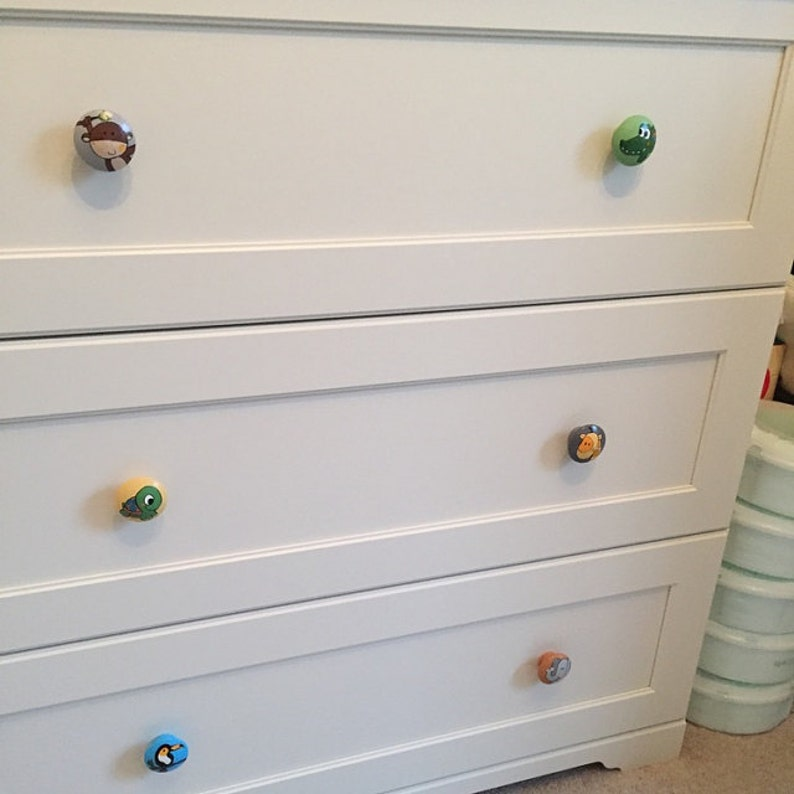 Exclusive knob koala bear wild animals drawer pull dresser kids room children\u2019s nursery decor furniture handle doorknob cabinet wrapchest