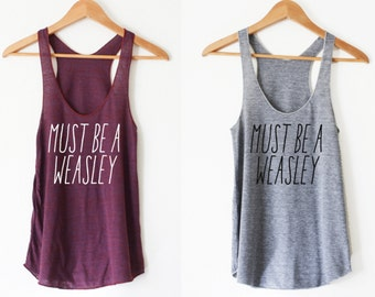 Must Be Women's Racerback Tank by So Effing Cute - Made in USA - Inspired by HP