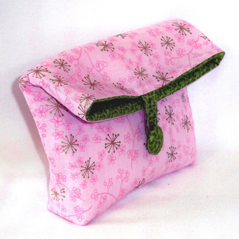 Pink Cosmetic Bag Makeup Bag Purse Organizer Clutch Purse image 0