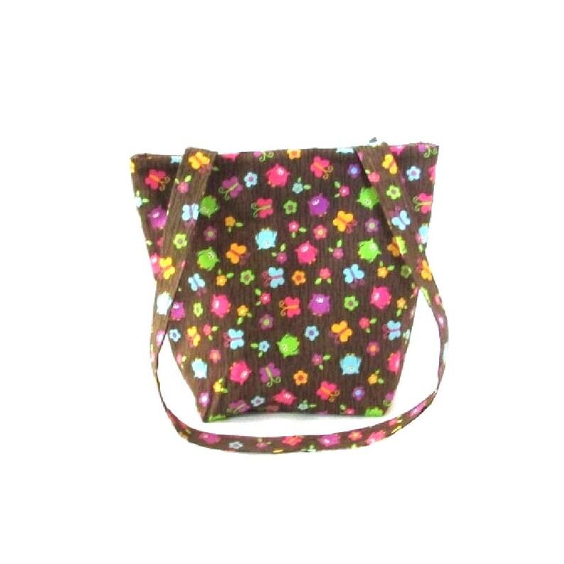 Owl Purse Small Tote Bag Brown Handmade Handbag Owls image 0