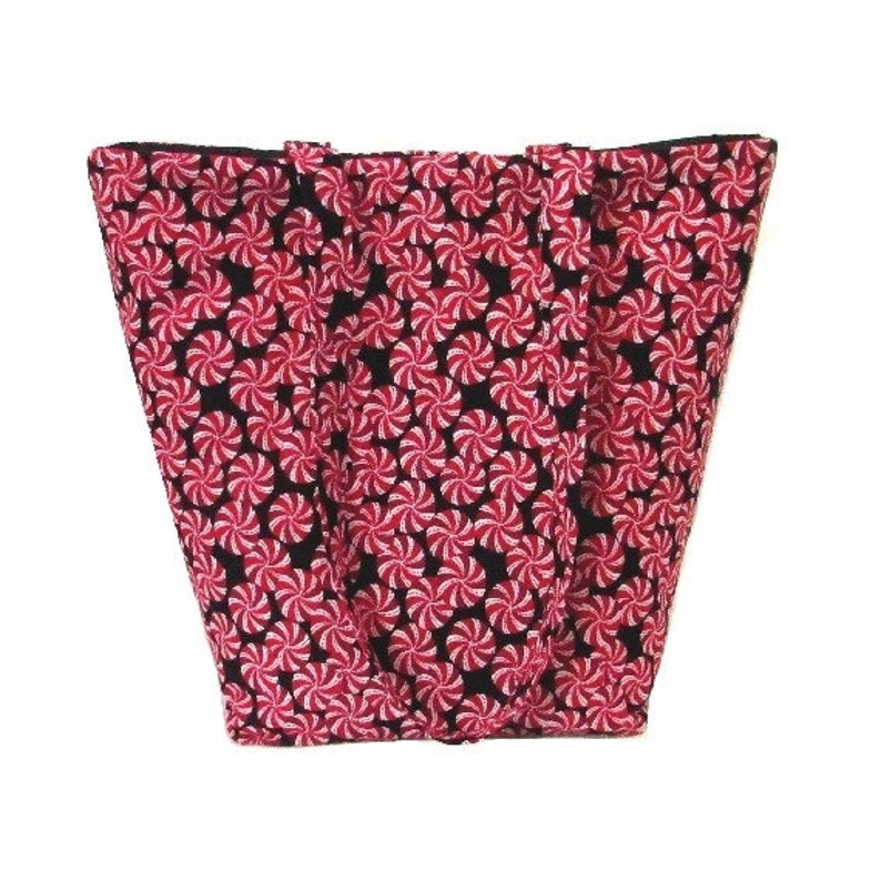 Holiday Shoulder Bag Peppermint Candy Tote Bag Christmas image 0