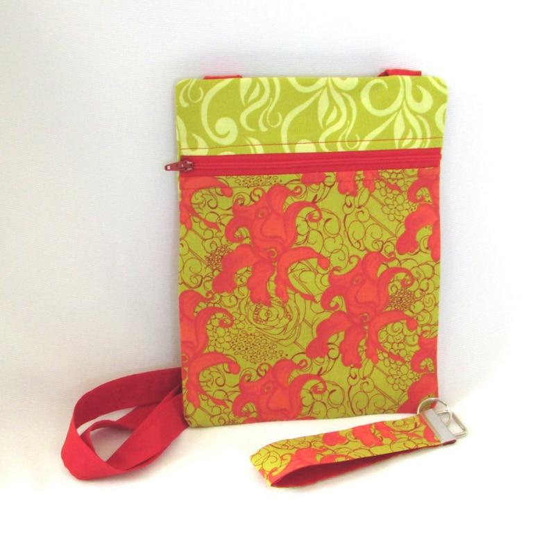 Floral Crossbody Bag Shoulder Bag Key Fob Handmade Purse image 0