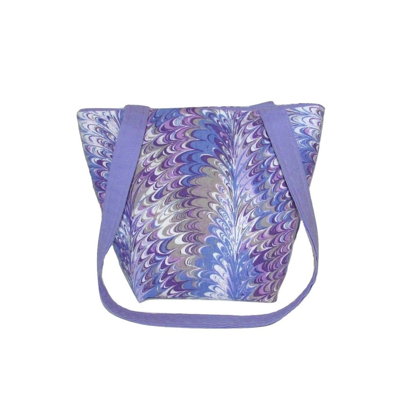 Purple Purse Small Fabric Bag Handmade Handbag Purple image 0
