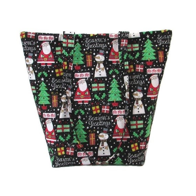 Holiday Shoulder Bag Christmas Tote Bag Handmade Handbag image 0