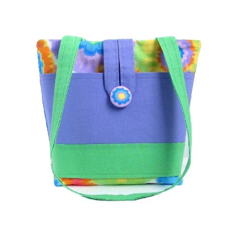 Tie Dye Purse Small Tote Bag Handmade Handbag Girls Purse image 0