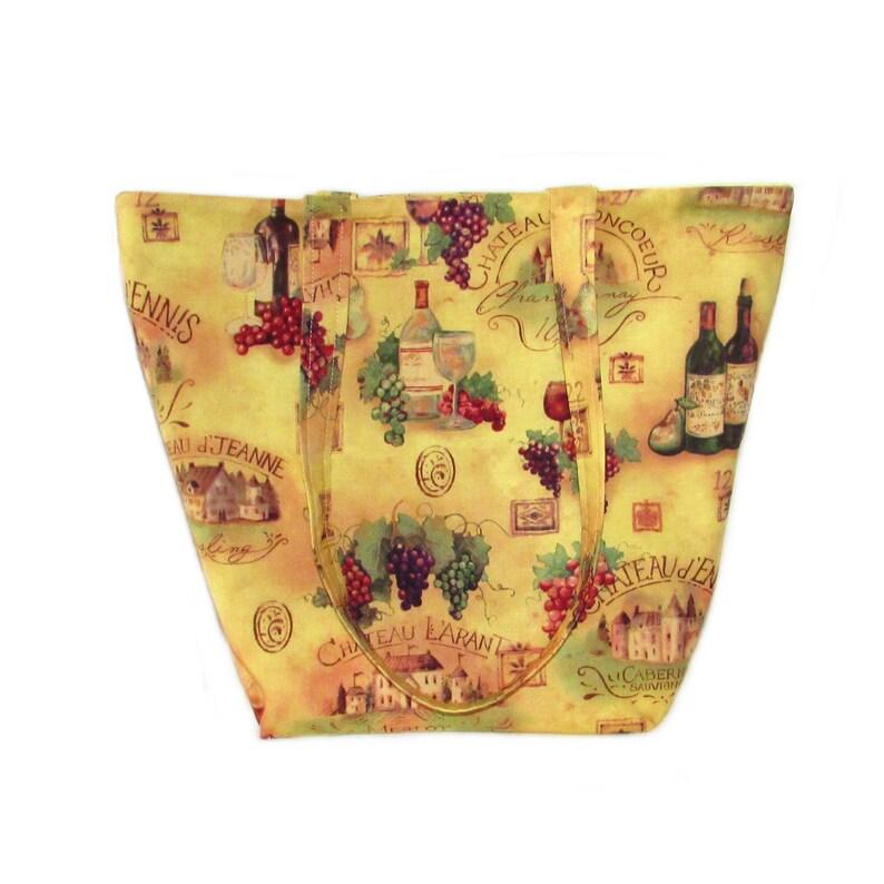 Wine Shoulder Bag Winery Cloth Purse Wine Bottle Wine image 0