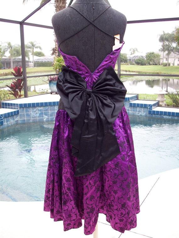 Gunne Sax by Jessica McClintock Purple with Black… - image 3