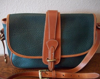 Green Dooney and Bourke USA All Weather Leather Handbag