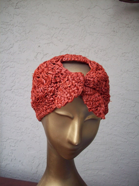 Vintage Woven Straw Cap - image 7