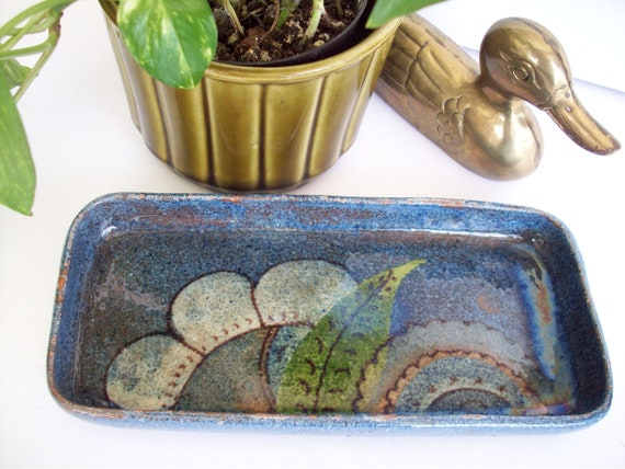 Vintage Glazed Trinket / Key /Coin Holder /Dish, D