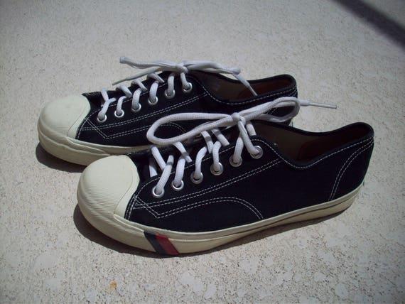 Vintage Black Pro-Keds Sneakers 8-1/2