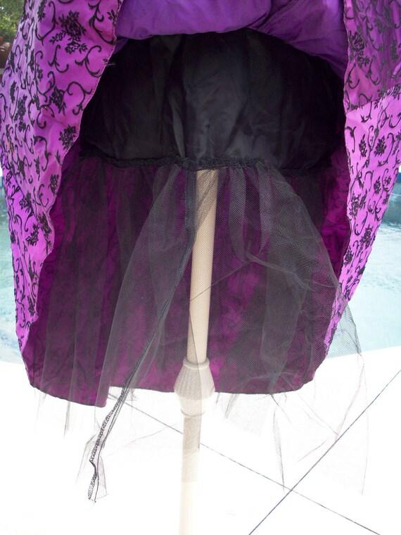 Gunne Sax by Jessica McClintock Purple with Black… - image 4