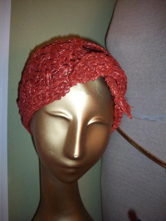 Vintage Woven Straw Cap - image 10