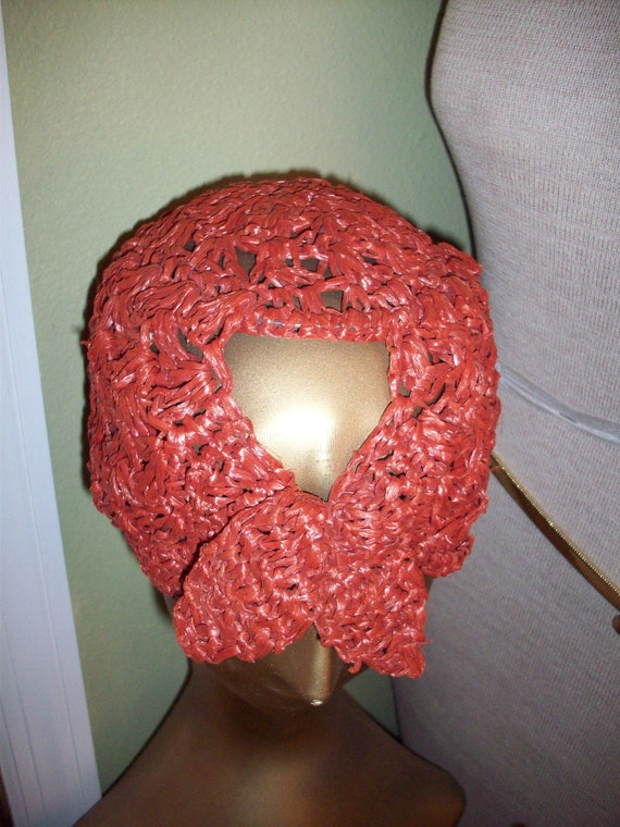 Vintage Woven Straw Cap - image 9