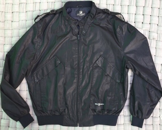 Vintage PACO RABANNE mens Bomber Jacket Sz L black
