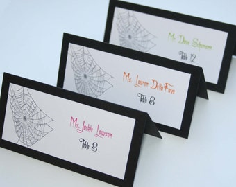 Spiderweb Place Cards